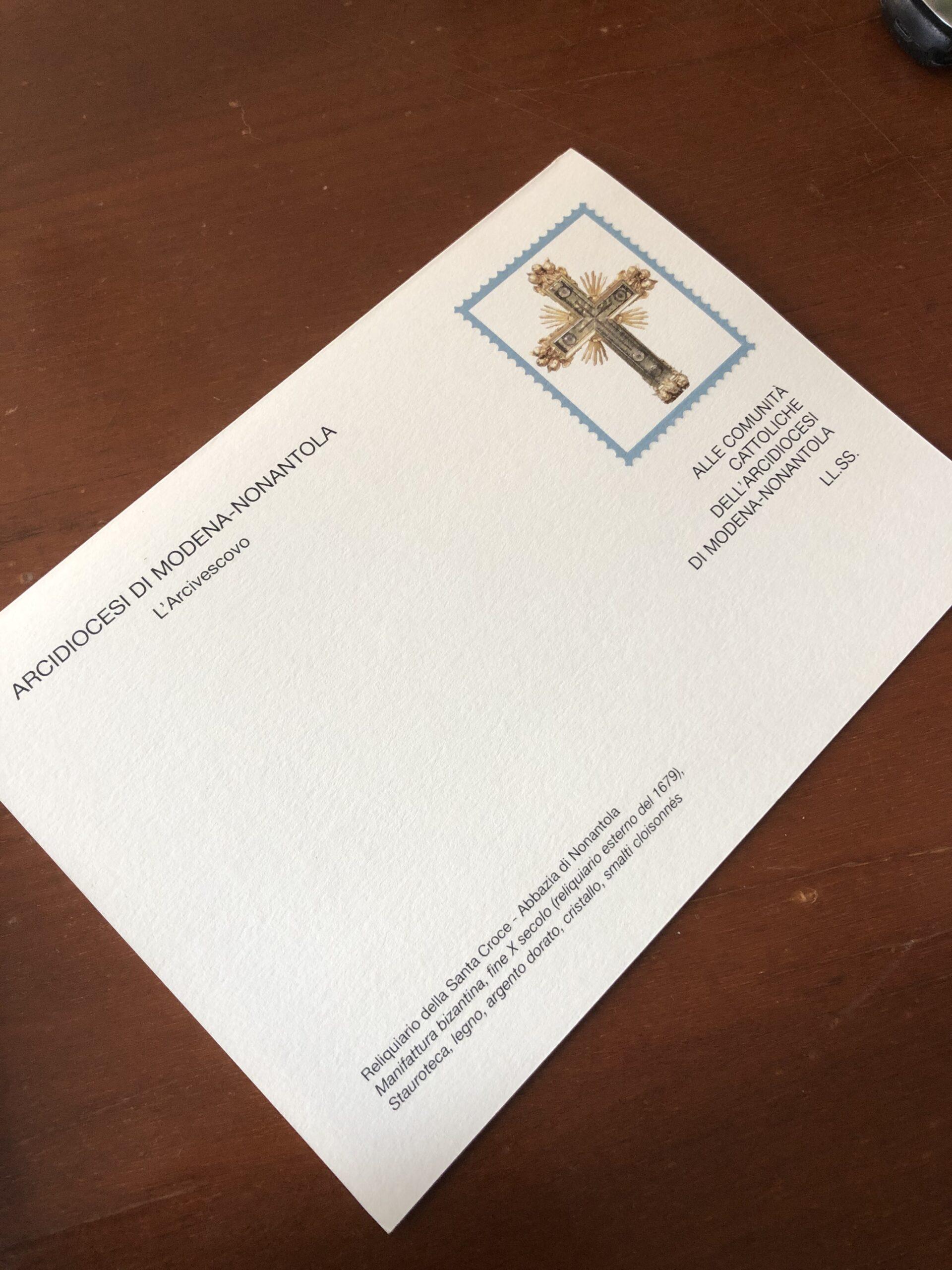 """Miniatura per l'articolo intitolato:Lettera """"cartolina"""" pastorale dell'Arcivescovo"""